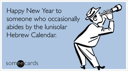 someecards.com - Happy New Year to someone who occasionally abides by the lunisolar Hebrew Calendar