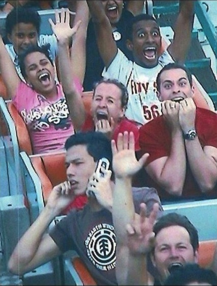 How to ride a roller coaster like a brazen douchebag