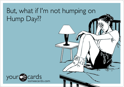 someecards.com - But, what if I'm not humping on Hump Day??