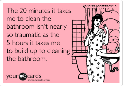 ecards cleaning bathroom 