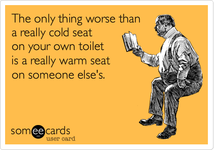 someecards.com - The only thing worse than a really cold seat on your own toilet is a really warm seat on someone else's.
