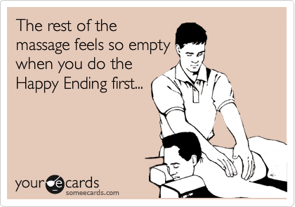 do you really get a happy ending at thai massage Bendigo