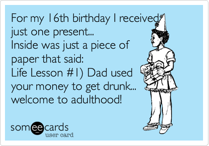 16th Birthday Sayings For Cards