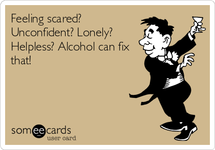 Funny Encouragement Ecard  Feeling scared  Unconfident  Lonely    Your Ecards Happy Friday