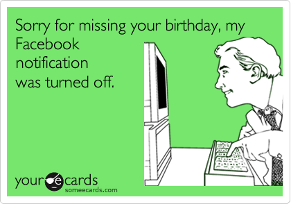 My Birthday on Facebook